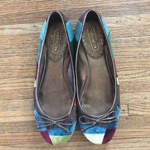 Coach Ladie Velvet Shoes Flats 6.5
